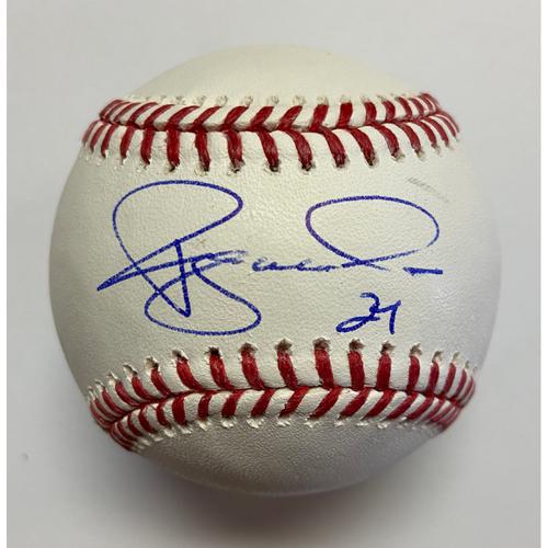 Ryan McMahon Autographed Authentic Baseball
