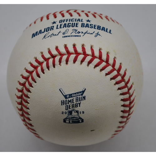 Photo of Game-Used Baseball - 2019 Home Run Derby - Joc Pederson - Round 2 - Out