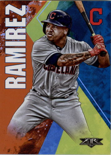 Photo of 2019 Topps Fire Orange #147 Jose Ramirez