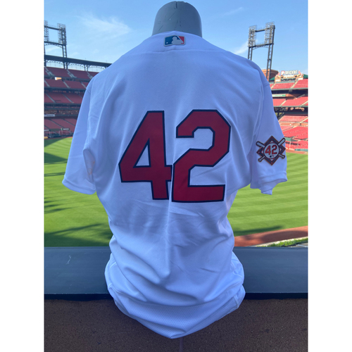 Photo of Cardinals Authentics: Team Issued Brad Miller Jackie Robinson Day Jersey