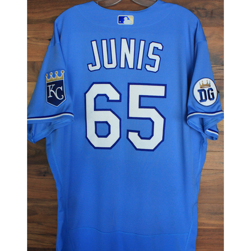 Photo of Alex's Lemonade Stand Foundation: Game-Used Jakob Junis Jersey (Size 48 - 9/26/20 DET @ KC)
