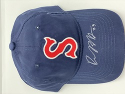 Photo of Autographed Denyi Reyes Salem Red Sox Hat