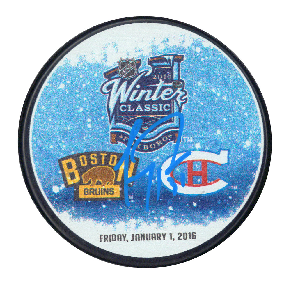 Carey Price Signed Puck Canadiens 2016 Winter Classic