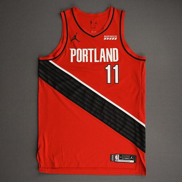 Image of Enes Kanter - Portland Trail Blazers - Game-Worn Statement Edition Jersey - 2021 NBA Playoffs