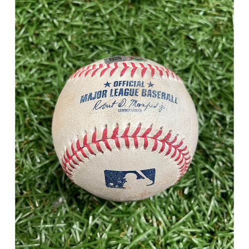 Game Used Baseball: Pete Fairbanks strikes out Bo Bichette - Top 8 - July 10, 2021 v TOR