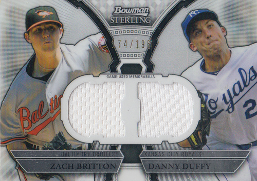 Photo of 2011 Bowman Sterling Dual Relics #BD Zach Britton/Danny Duffy