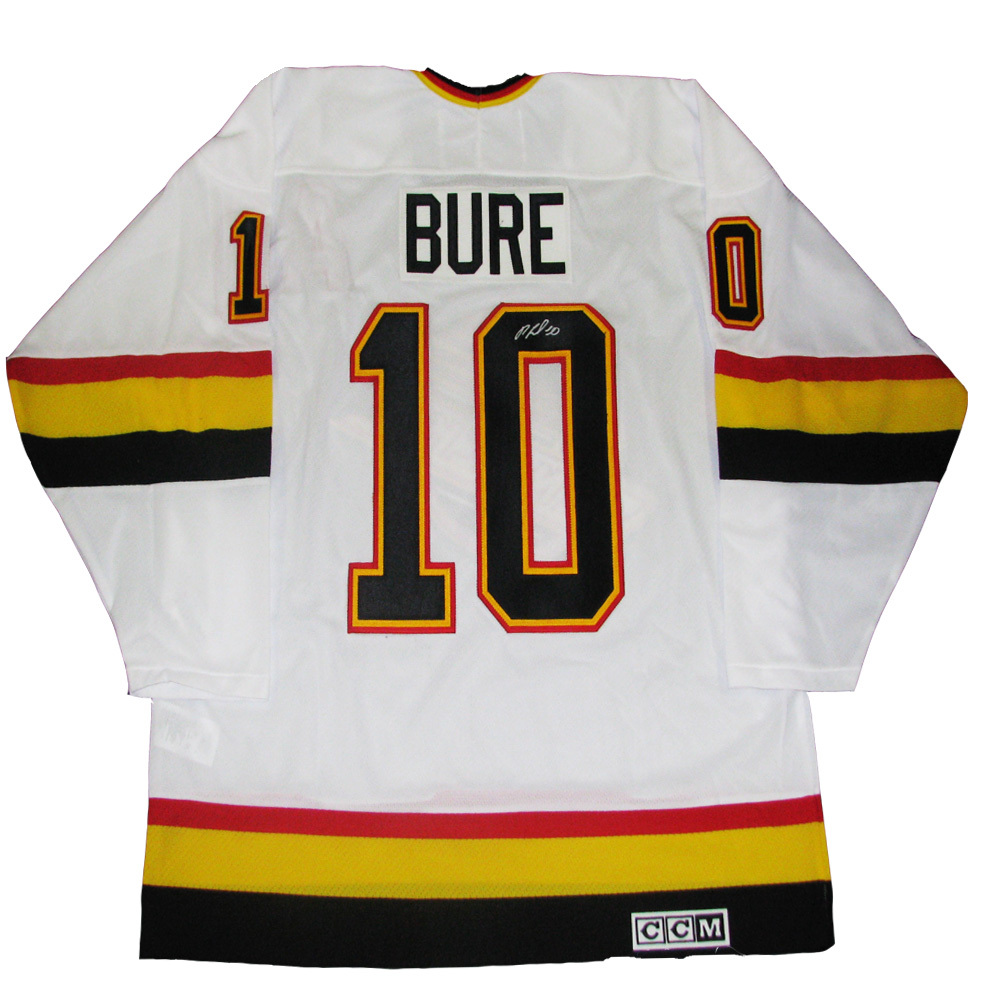 PAVEL BURE Signed Vancouver Canucks White Retro CCM jersey