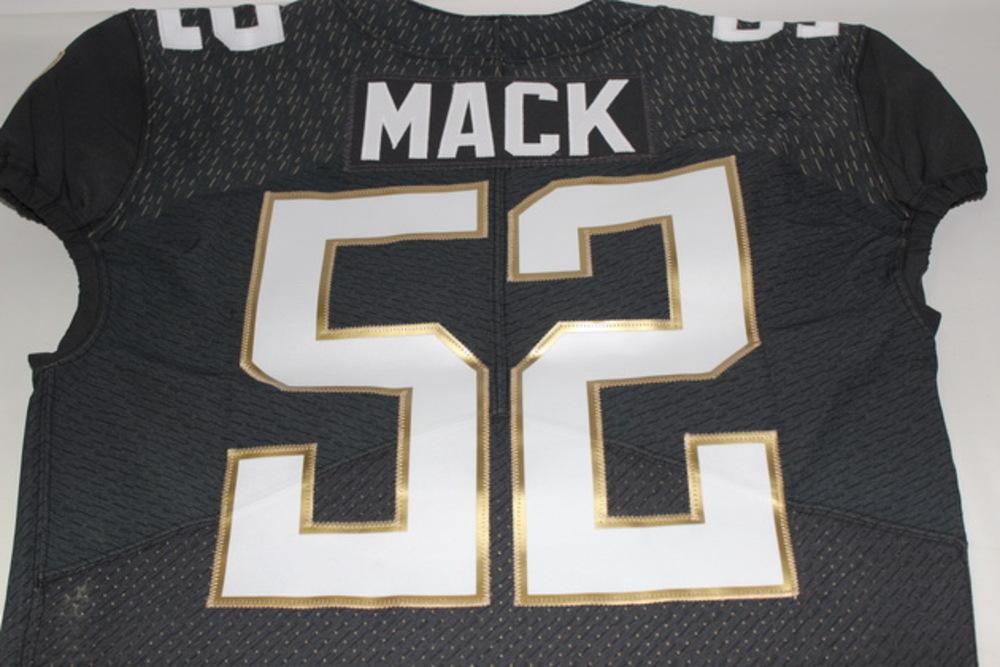 official photos b1498 02cfb NFL Auction   NFL - RAIDERS KHALIL MACK 2016 TEAM IRVIN GAME ...