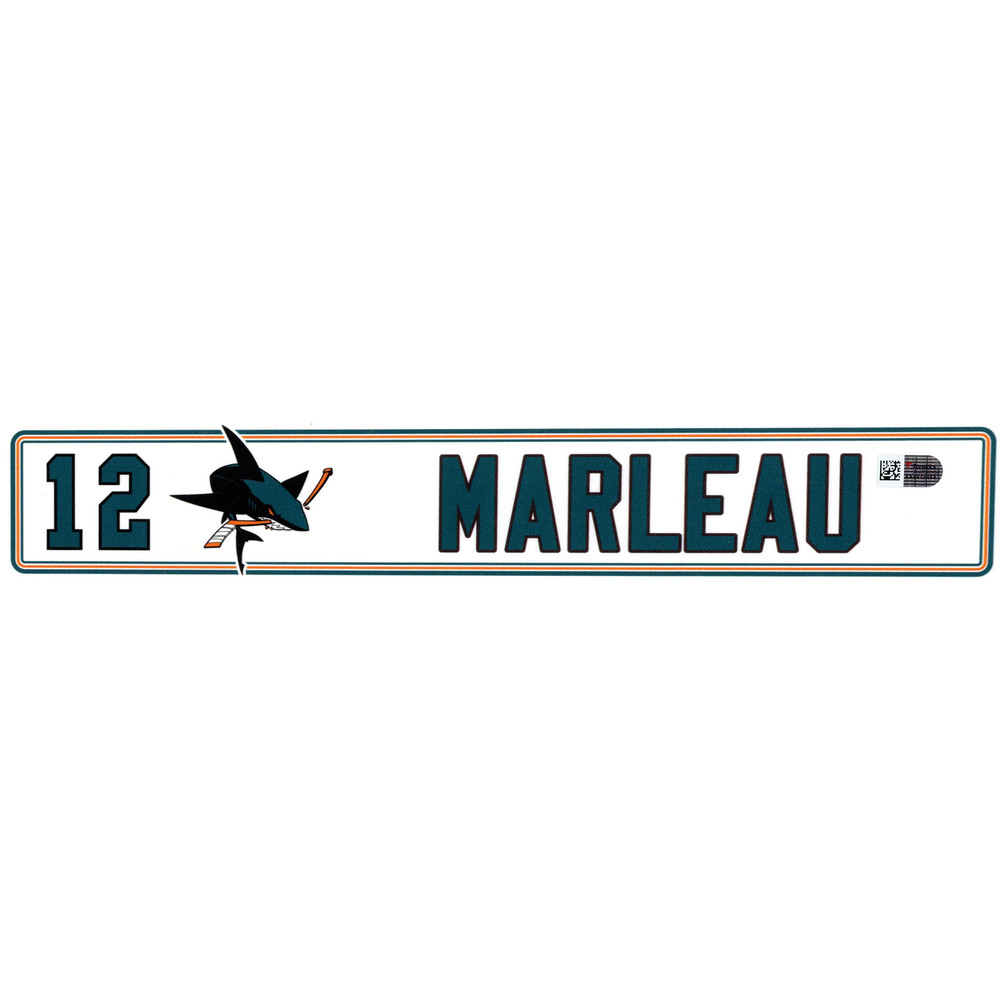 Patrick Marleau San Jose Sharks Player-Issued #12 Locker Room Nameplate from the 2016-17 NHL Season