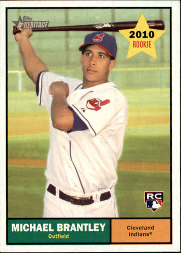 Photo of 2010 Topps Heritage #172 Michael Brantley Rookie Card -- Indians post-season