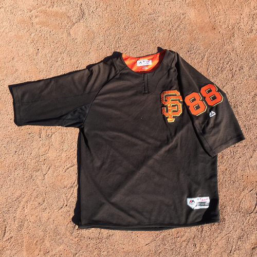 San Francisco Giants - 2017 Game-Used Batting Practice Jersey Worn by #88 Eli Whiteside (Size: XL)