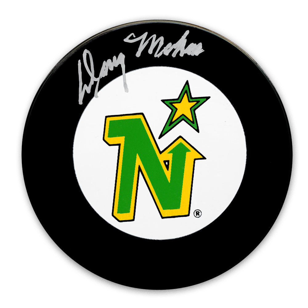 Doug Mohns Minnesota North Stars Autographed Puck