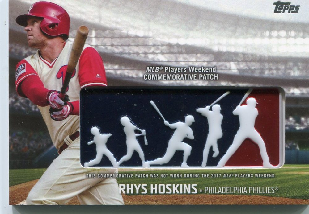 2018 Topps Players Weekend Patches #PWPRH Rhys Hoskins