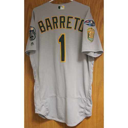 Game-Used Franklin Barreto 2018 Jersey