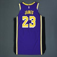 LeBron James - Los Angeles Lakers - Game-Worn Statement Edition Jersey - 2018-19 Season