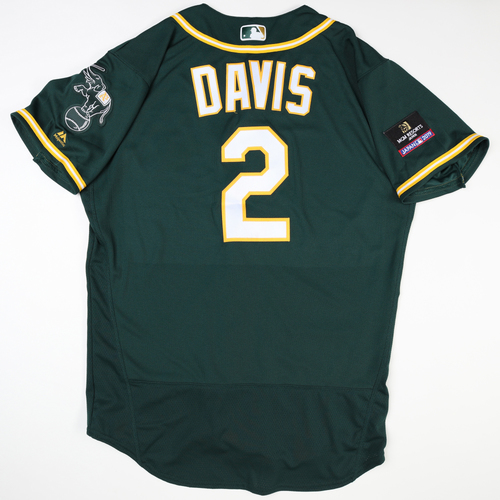 Photo of 2019 Japan Opening Day Series - Game Used Jersey - Khris Davis, Oakland Athletics at Nippon Ham Fighters -3/17/2019