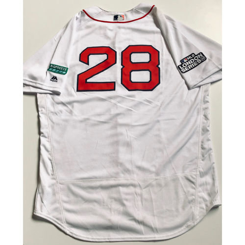 2019 London Series - Game-Used Jersey - J.D. Martinez, New York Yankees vs Boston Red Sox - 6/29/19