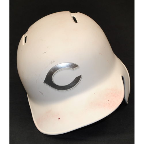 "Photo of Jose ""CANDELITA"" Iglesias Cincinnati Reds Game-Used 2019 Players' Weekend Helmet"