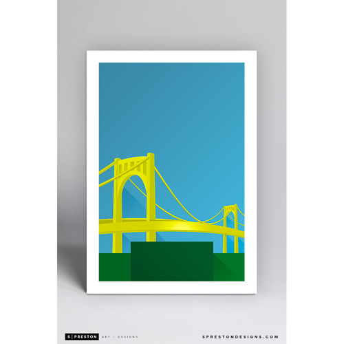 Photo of PNC Park - Minimalist Ballpark Art Print by S. Preston  - Pittsburgh Pirates