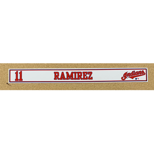 Photo of Jose Ramirez 2020 Spring Training Game-Used Locker Name Plate