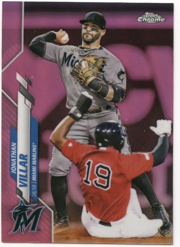 Photo of 2020 Topps Chrome Pink Refractors #75 Jonathan Villar