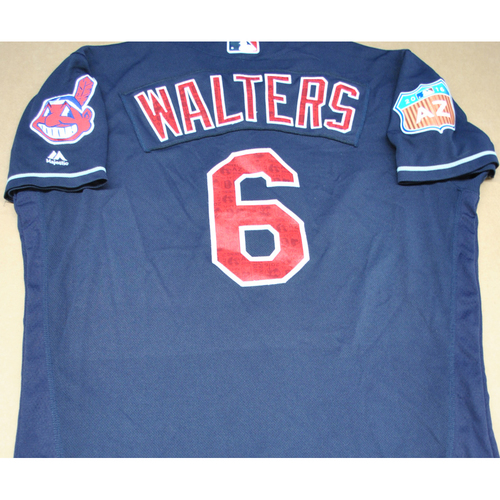 Game-Used 2016 Spring Training Jersey - Zach Walters - Size 46 - Cleveland Indians