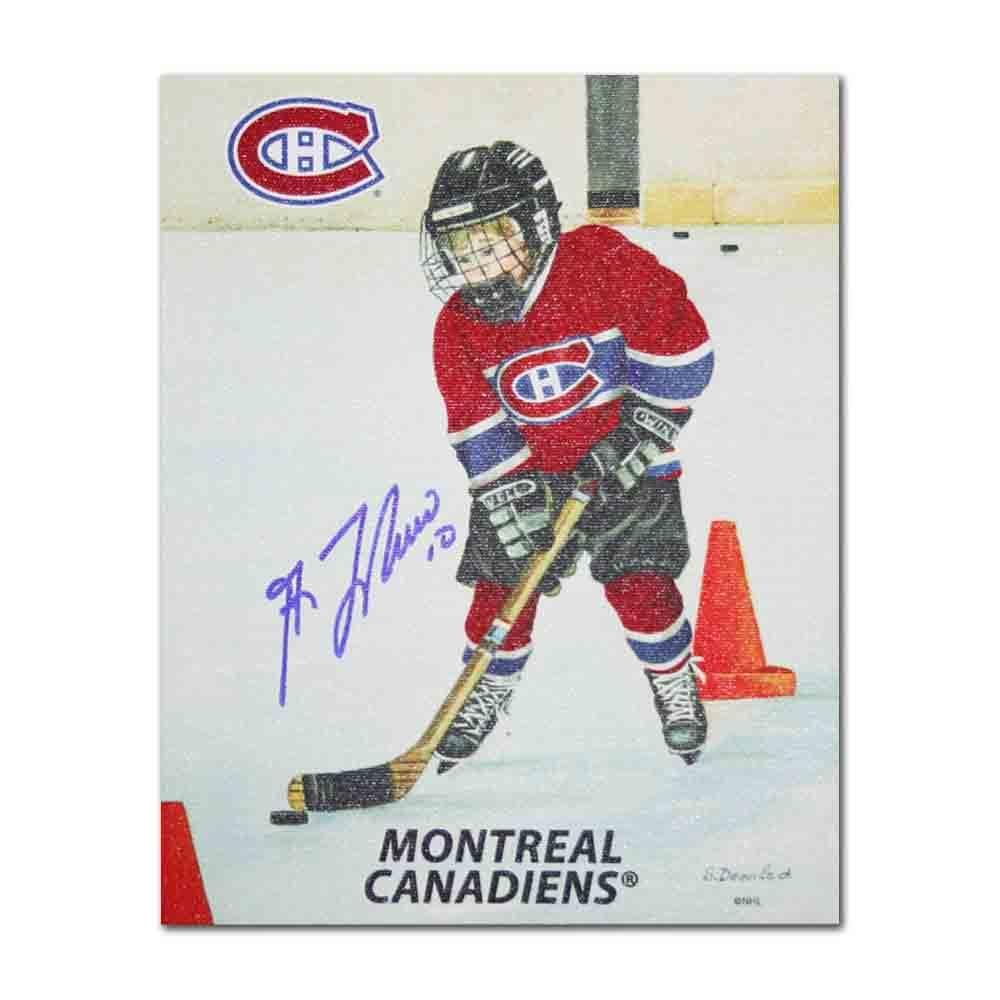 Guy Lafleur Autographed Montreal Canadiens 8X10 Canvas