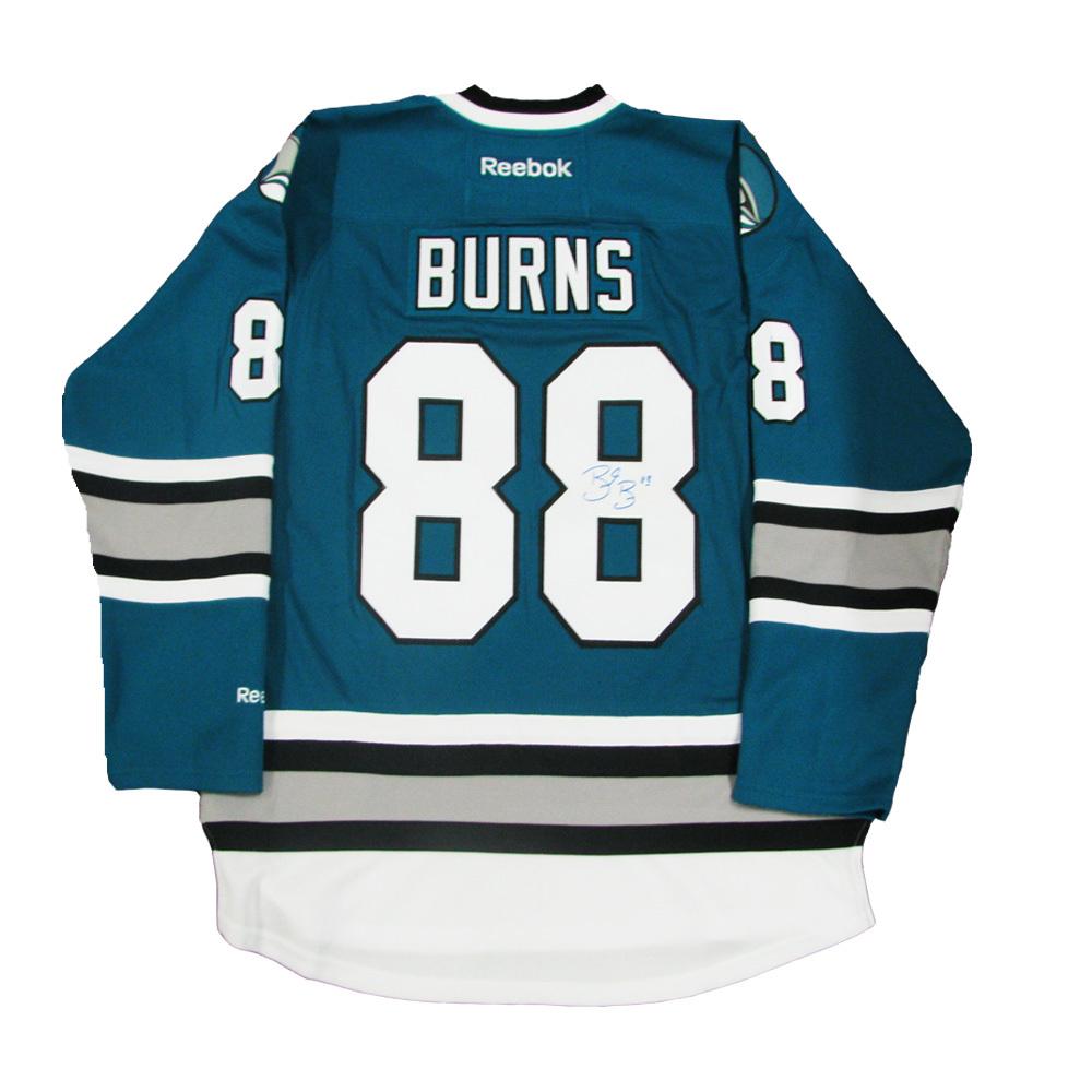 super popular 7eee5 e69f3 BRENT BURNS Signed San Jose Sharks 25th Anniversary Teal ...