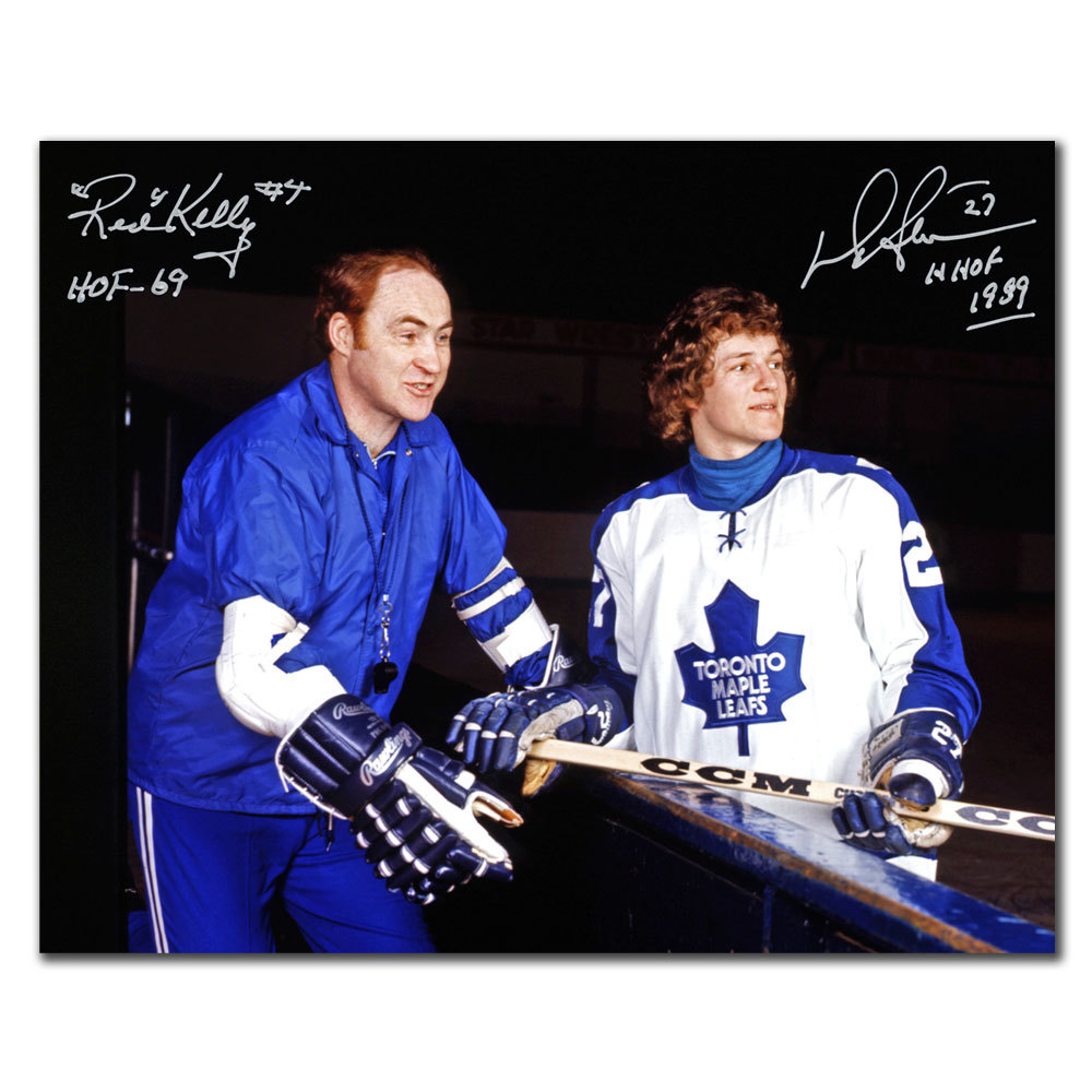 Red Kelly & Darryl Sittler Toronto Maple Leafs HOF Dual Autographed 8x10