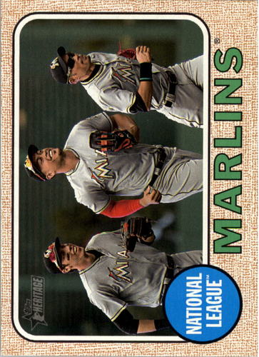 Photo of 2017 Topps Heritage #347 Miami Marlins TC