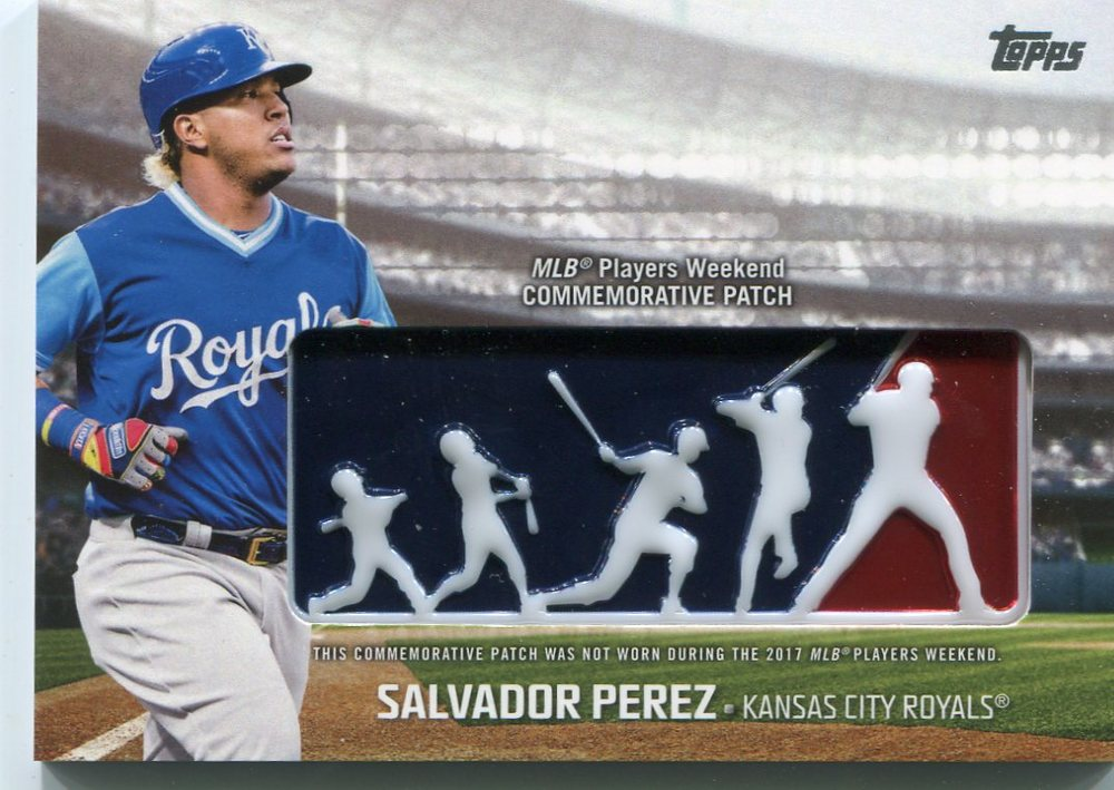 2018 Topps Players Weekend Patches #PWPSP Salvador Perez