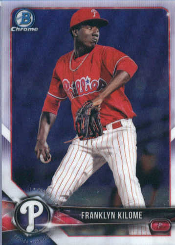 Photo of 2018 Bowman Chrome Prospects #BCP84 Franklyn Kilome