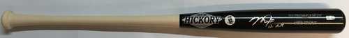 "Photo of Mike Trout ""12 ROY"" Autographed Game Model Old Hickory Bat"