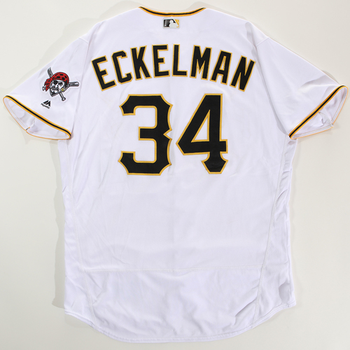 Photo of 2018 Arizona Fall League Game-Used Jersey - Matt Eckelman -Size 50