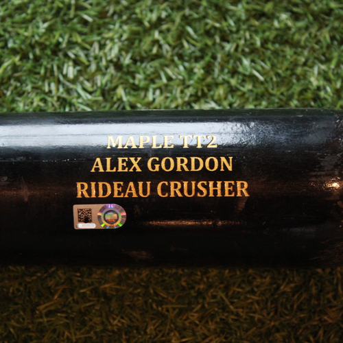 Game-Used Broken Bat: Alex Gordon Ground Out (OAK @ KC - 6/3/18)