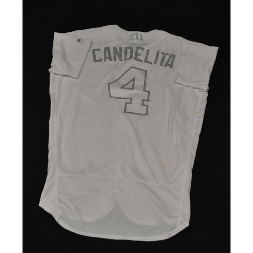 "Photo of Jose ""CANDELITA"" Iglesias Cincinnati Reds Game-Used 2019 Players' Weekend Jersey"