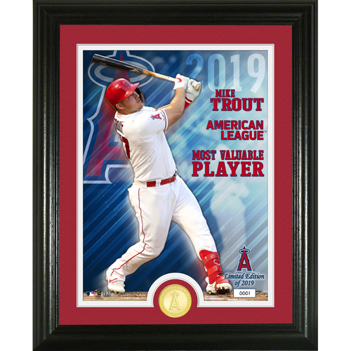 Photo of Serial #1! Mike Trout 2019 AL MVP Bronze Coin Photo Mint