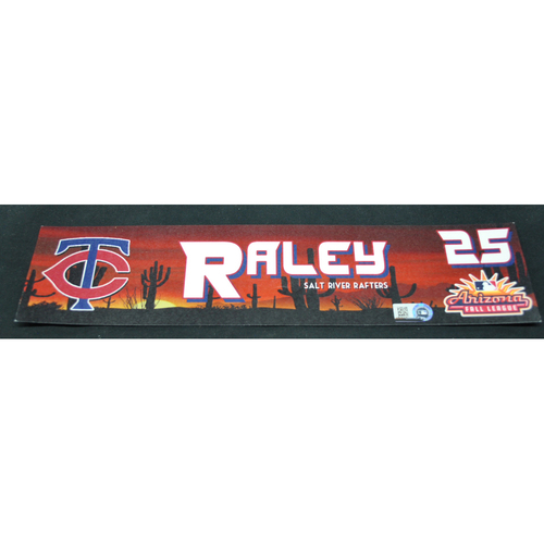 Photo of Arizona Fall League - Game-Used Locker Tag - Luke Raley (MIN), Jersey Number: 25