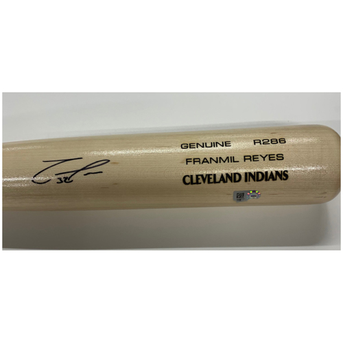 Photo of Franmil Reyes Autographed Louisville Slugger Bat