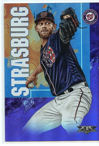 Photo of 2019 Topps Fire Purple #182 Stephen Strasburg