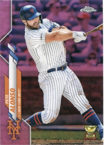 Photo of 2020 Topps Chrome Pink Refractors #80 Pete Alonso