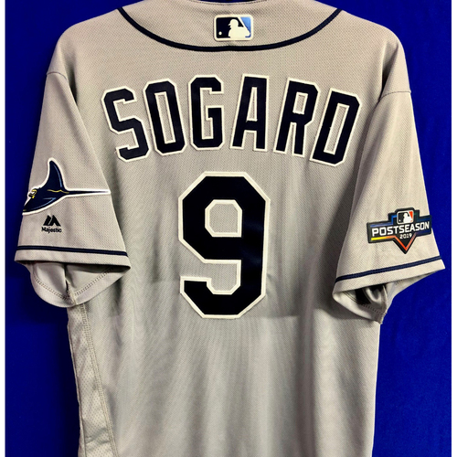 Photo of Team Issued Postseason Road Gray Jersey: Eric Sogard - 2019