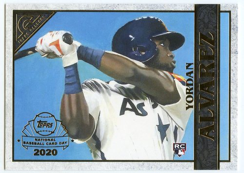 Photo of 2020 Topps Chrome Topps Gallery Preview #GP9 Yordan Alvarez --National Baseball Card Day