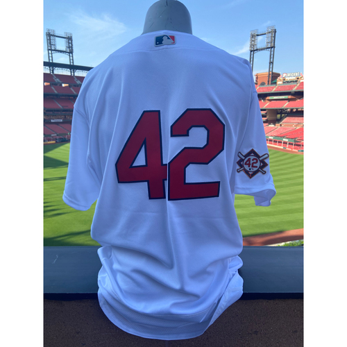 Photo of Cardinals Authentics: Team Issued Bryan Eversgerd Jackie Robinson Day Jersey