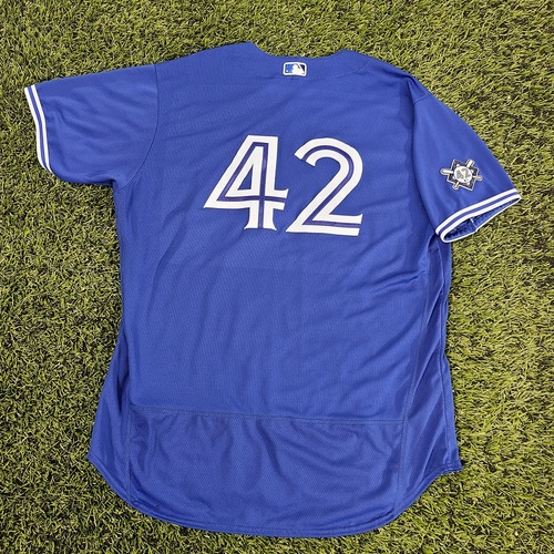 Photo of CHARITY AUCTION: Authenticated Team Issued #42 Jersey: Hyun-Jin Ryu (2020 Season). Size 54.