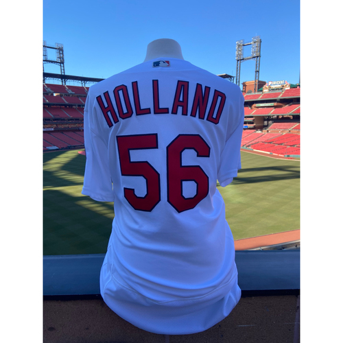 Photo of Cardinals Authentics: Team Issued Greg Holland Home White Jersey