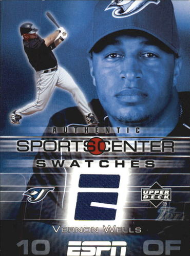 Photo of 2005 Upper Deck ESPN Sports Center Swatches #VW Vernon Wells