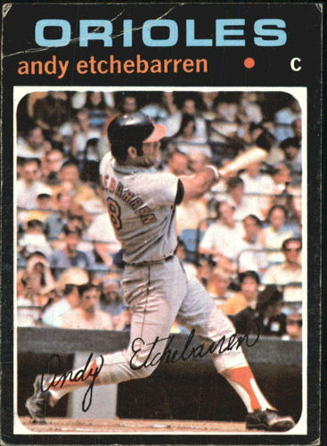 Photo of 1971 Topps #501 Andy Etchebarren