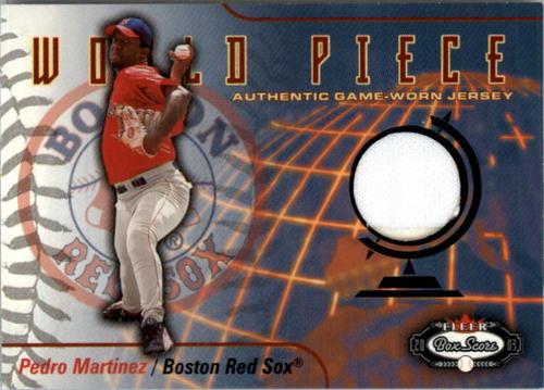 Photo of 2003 Fleer Box Score World Piece Game Jersey #PM Pedro Martinez