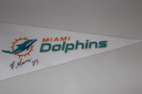 DOLPHINS - RAHEEM MOSTERT SIGNED DOLPHINS PENNANT (CREASES ON PENNANT)
